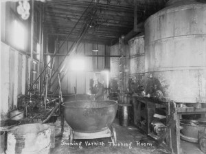 Image of the varnish thinning room circa 1926