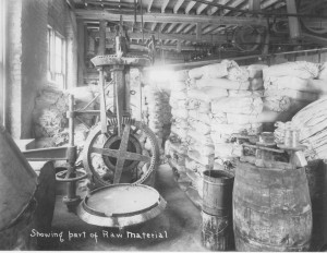 Image of the raw material for paint making circa 1926